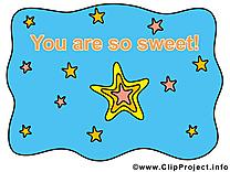 Tu es mon étoile dessin gratuit à télécharger