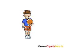 Beach-volley illustration gratuite - Loisir clipart