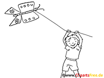 Cerf-volant dessin à imprimer - Loisir images