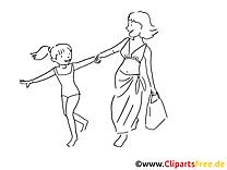 Faire courses image à colorier  – Loisir clipart