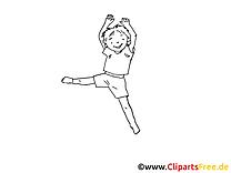 Gymnaste dessin à colorier - Loisir image