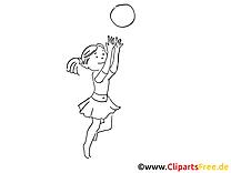 Image à colorier jouer a la balle - Loisir clipart