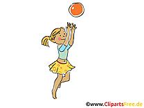 Jouer a la balle dessin gratuit - Loisir image