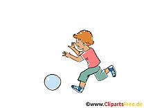 Jouer a la balle illustration gratuite - Loisir clipart