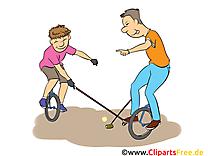 Monocycle illustration gratuite - Loisir clipart
