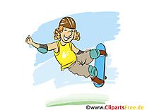 Planche à roulettes clipart gratuit - Loisir images