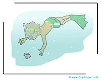 Plongeur clipart gratuit - Loisir images