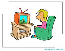 Regarder tv clip art gratuit - Loisir dessin