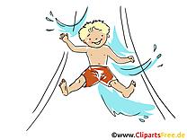 Toboggan aquatique dessin gratuit - Loisir image