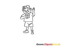Touriste illustration à colorier - Loisir images