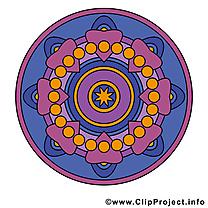 Bouddhisme clipart gratuit mandala dessins