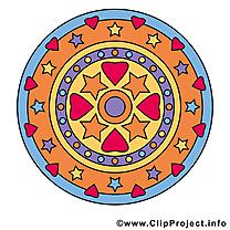 Clip art gratuit mandala dessin