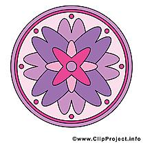 Illustration à télécharger mandala clipart