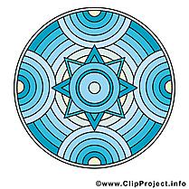 Mandala dessin gratuit à télécharger