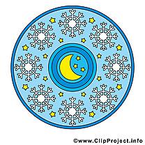 Mandala illustration gratuite clipart
