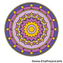 Mandala image à télécharger clipart
