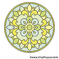 Méditation clip arts gratuits mandala illustrations