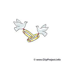 Anneaux clip arts gratuits - Mariage illustrations