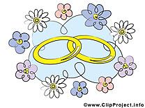 Anneaux dessin gratuit - Mariage image