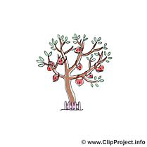 Arbre illustration gratuite - Mariage clipart