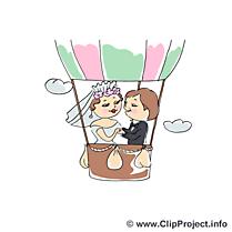 Ballon dessin - Mariage cliparts à télécharger