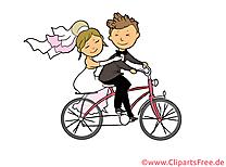 Bicyclette clipart gratuit - Mariage images