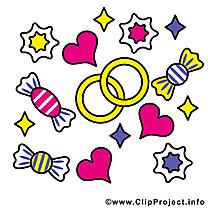 Bonbons dessin - Mariage à télécharger