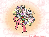 Bouquet dessin - Mariage clip arts gratuits
