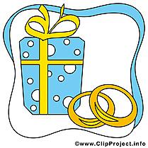 Cadeau illustration gratuite - Mariage clipart