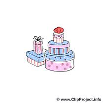 Cadeaux illustration gratuite - Mariage clipart