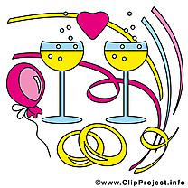 Champagne cliparts gratuis - Mariage images
