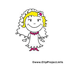 Clip art gratuit fiancée - Mariage dessin