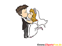 Clip arts à imprimer couple - Mariage illustrations