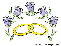 Clochettes dessin - Mariage clip arts gratuits