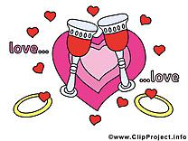 Coeur dessins gratuits - Mariage clipart