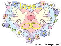 Coeur image gratuite – Mariage clipart