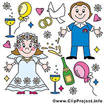 Couple clipart - Mariage dessins gratuits
