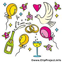 Décoration clip arts gratuits - Mariage illustrations