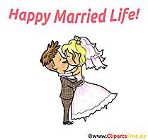 Dessins gratuits couple - Mariage clipart