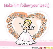 Fiancée dessins gratuits - Mariage clipart