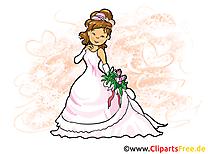 Fiancée image à télécharger - Mariage clipart