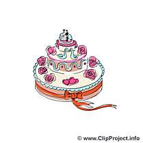 Gâteau image gratuite - Mariage cliparts