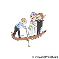 Gondole images - Mariage clip art gratuit