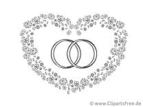 Image à imprimer coeur - Mariage cliparts