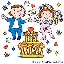 Jeunes mariés clip art gratuit - Mariage dessin