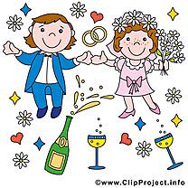 Jeunes mariés clip art gratuit – Mariage images