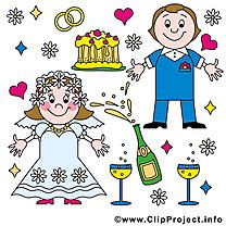Jeunes mariés image gratuite - Mariage illustration