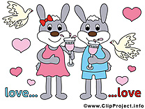 Lapin illustration - Mariage images