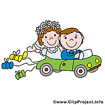 Limousine clipart gratuit - Mariage images