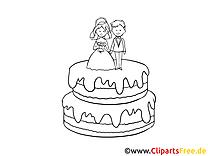 Mariage gâteau image à télécharger gratuite